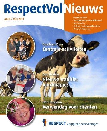 Verwendag voor cliënten Centrale activiteiten Nieuwe traditie ...