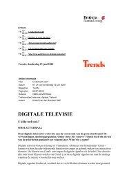 DIGITALE TELEVISIE - Roularta Media Group