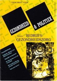 Tijdschrift Gezondheid en Politiek jaargang 1987 nr 3