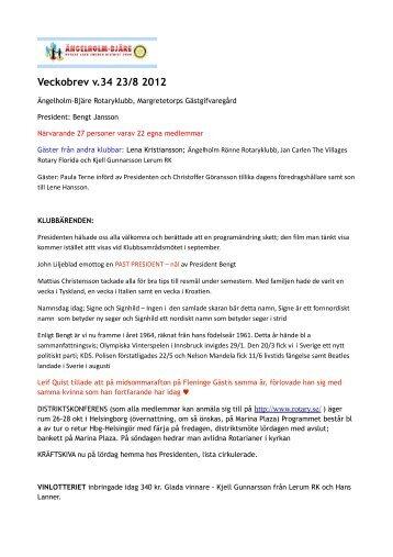 ROTARY veckbrev v.34 2012