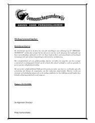 Globaal preventieplan: - Scholengroep Brugge-Oostkust