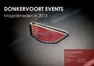 Brochure Donkervoort Events 2013