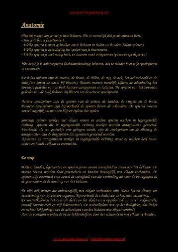 Anatomie - Manon Vermeer