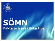 Fakta om sömn - Umeå universitet