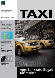 Apps kan skabe illegalt taximarked - Dansk Taxi Råd