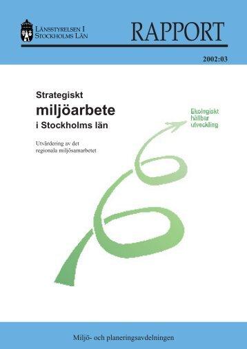 miljöarbete - Länsstyrelsen i Stockholms län