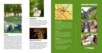 Läs mer i foldern om Gränbyparken - Uppsala kommun