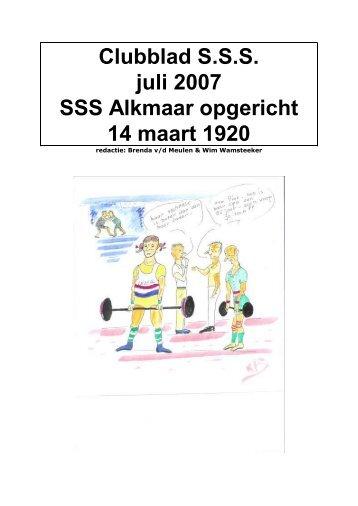 Clubblad SSS oktober-2007.pdf - SSS Alkmaar