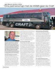 """"""" Ons partnerschap met de KNSB gaat de Craft - Sport Partner"""