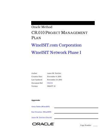 project management manual template - project template mini handbook aspe