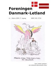 Blade nr. 1 - 2009, 17. årgang - Foreningen Danmark - Letland