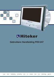 Gebruikers Handleiding PDV-247 - Hiteker