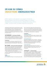 Sänk industrins energikostnader - Vattenfall