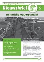 Herinrichting Dorpsstraat - Vereniging Landelijk Diepenveen