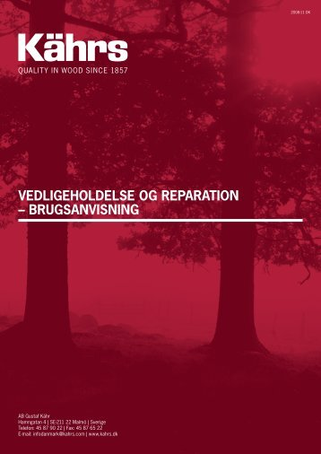Kährs - Vedligeholdelse og reperation - Erhvervsgulve.dk