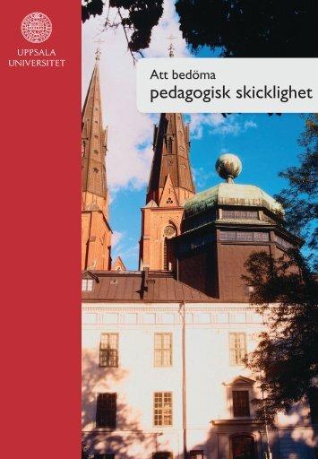 Att bedöma pedagogisk skicklighet - Uppsala universitet