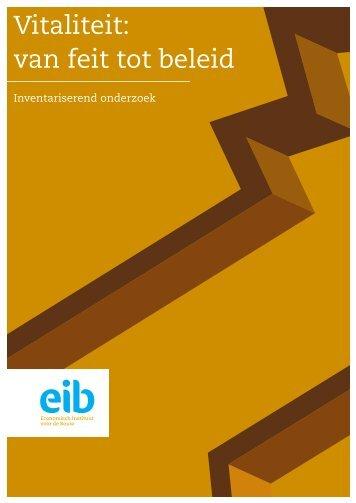 Vitaliteit: van feit tot beleid - EIB