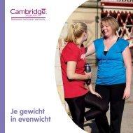 Je gewicht in evenwicht - Cambridge Weight Plan