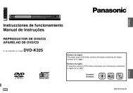 Instrucciones de funcionamiento Manual de Instruções DVD-K325