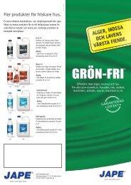 Grön-Fri - Jape Produkter AB