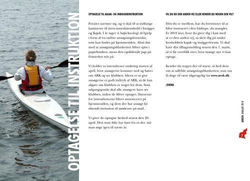 arken klubblad for amager ro- og kajakklub januar 2010