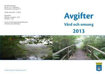 Folder - Avgifter Vård- och omsorg 2013 (PDF ... - Trelleborg