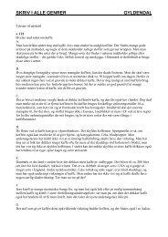 Øvelse med tekst om kaffe - Skriv i alle genrer - Gyldendal