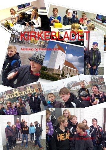 KIRKEBLADET - Aarestrup og Haverslev kirker.