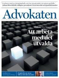 Nr 3 2013 som PDF - Advokatsamfundet