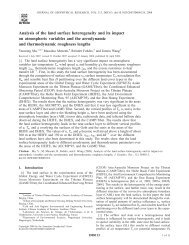 Analysis of the land surface heterogeneity and its impact on ...