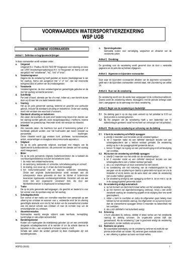 WSP UGB - TVM Verzekeringen