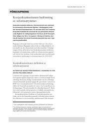 Konjunkturinstitutets bedömning av reformutrymmet