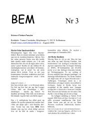 Science Fiction-Fanzine Redaktör: Tomas Cronholm, Rösjötorpsv 3 ...