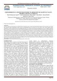 ethnomedicinal and phytoeconomic elaboration of lilownai valley ...