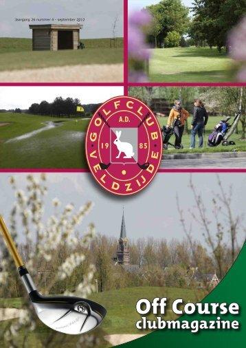 Jaargang 26 nummer 4 - september 2012 - Golfclub Veldzijde