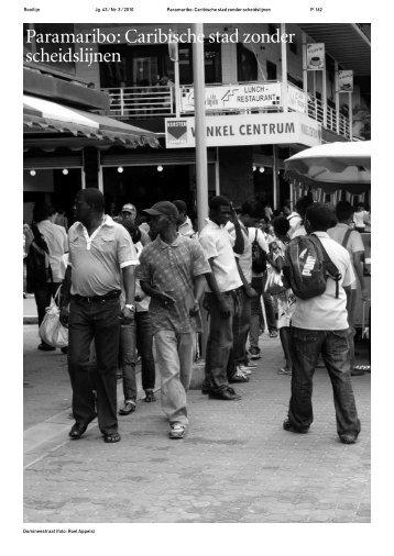 Paramaribo: Caribische stad zonder scheidslijnen - Rooilijn