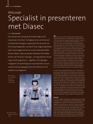 Specialist in presenteren met Diasec - Wilcovak