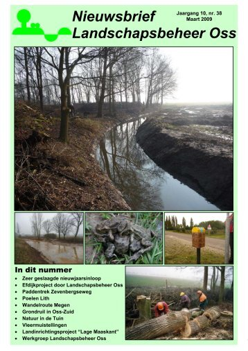 Nieuwsbrief Maart 2009 - Landschapsbeheer Oss