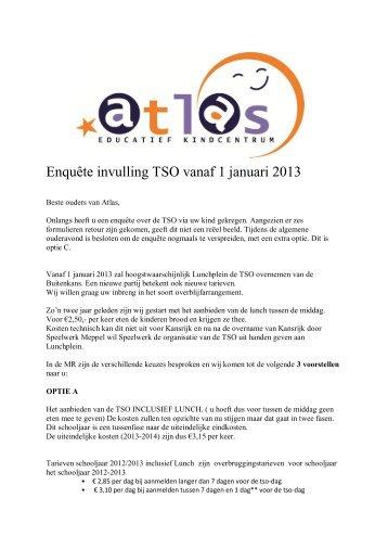 Enquête invulling TSO vanaf 1 januari 2013 - EKC Atlas