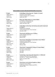 Referentielijst projekten Bouwbedrijf Hendriks Gemert b.v. Project ...