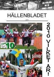 Hällenbladet 2010 (778 kb, pdf) - OK Hällen