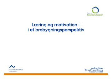 Læring og motivation - Silkeborg Gymnasium