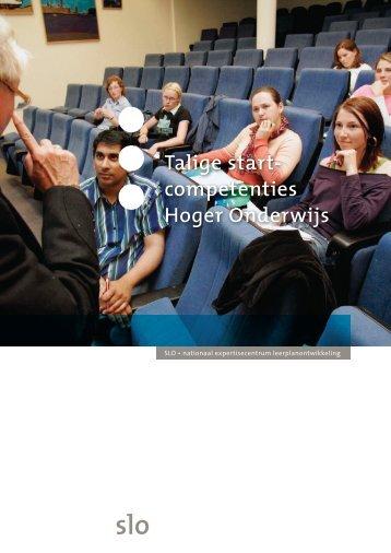 Talige Startcompetenties Hoger Onderwijs - Levende Talen