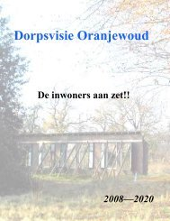 Dorpsvisie Oranjewoud - Gemeente Heerenveen