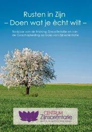Jaarboek Jaartraining 2009-2010 - Centrum Zijnsoriëntatie