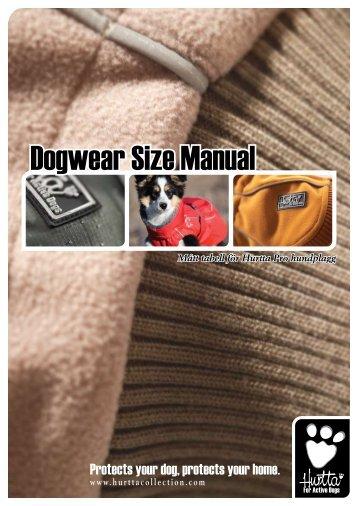 Dogwear Size Manual