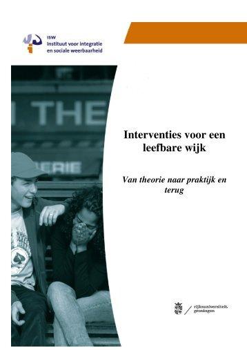 Interventies voor een leefbare wijk: van theorie naar - Instituut ISW