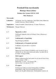 Protokoll från styrelsemöte - Blekinges MotorCyklister