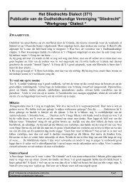 Het Sliedrechts Dialect (371) - Over . . . Sliedrecht