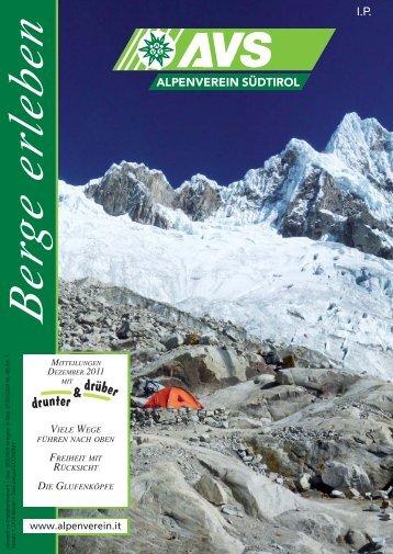 AVS-Mitteilungen Dezember 2011 - Alpenverein Südtirol